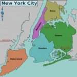 NYC Boroughs Map - Manhattan, The Bronx, Brooklyn, Queens and Staten Island