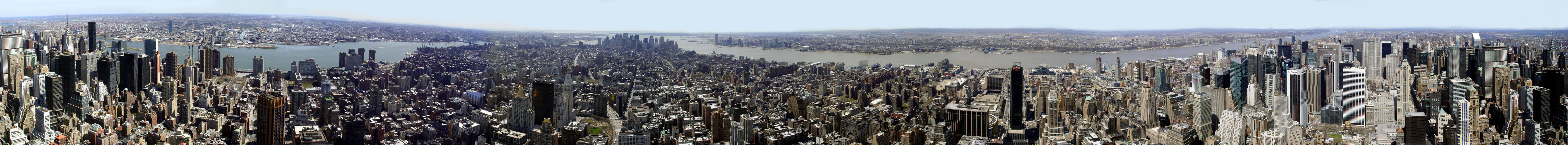 New york city panoramic view from empire state building click to