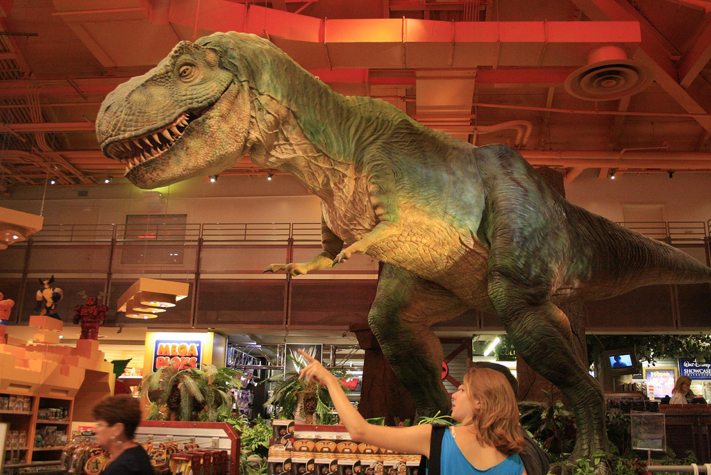 "Dinosaurs Toys R Us : Toys r us times square a ""must see while visiting new"