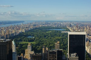 Central Park from Top of the Rock Observation Deck
