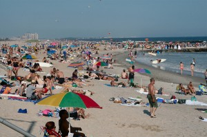 Far Rockaway Beach at Queens in New York City