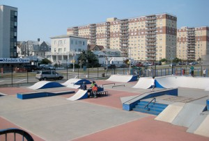 Skating Park at Far Rockaway Beach