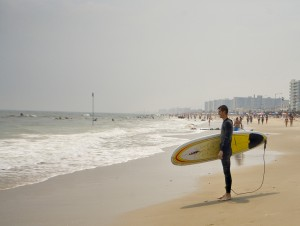Surfing at Far Rockaway Beach