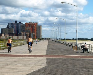 The Boardwalk at Far Rockaway Beach