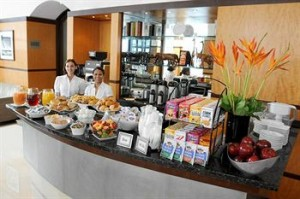 Complimentary Breakfast Spread at Hotel Giraffe
