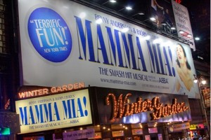 Mamma Mia! Playing at the Winter Garden Theater