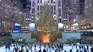 Ice Skating and the Christmas Tree at the Rockefeller Center