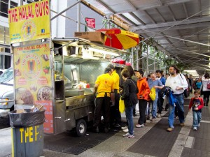 New York Chicken and Rice Street Cart - Long Line for The Halal Guys