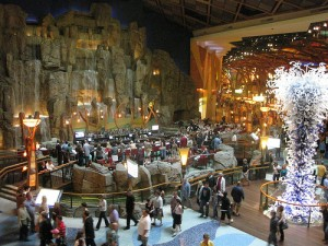 The Indoor 7-Storey Waterfall at the Mohegan Sun Casino