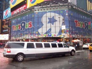 A Stretch Limo - Stretch Hummer - in Times Square New York City