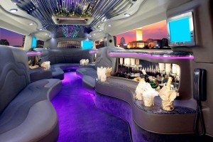A Stretch Limo in New York City with a Full Wet Bar